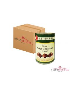 FU XING WHOLE WATER CHESTNUTS 567G (CASE OF 24)