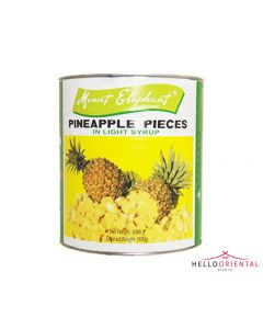 MOUNT ELEPHANT PINEAPPLE PIECES IN LIGHT SYRUP 3005G