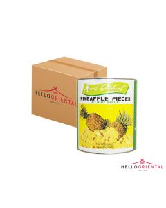 MOUNT ELEPHANT PINEAPPLE PIECES IN LIGHT SYRUP 3005G (CASE OF 6)
