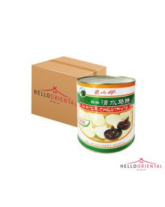 MOUNT ELEPHANT WATER CHESTNUTS SLICES 2950G (CASE OF 6)