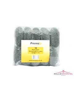 PREEMA HEAVY DUTY GALVANISED SCOURERS LARGE W60 (PACK OF 10)