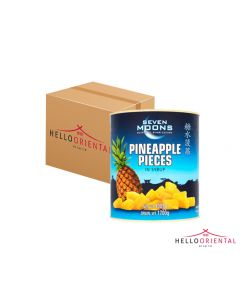 SEVEN MOONS PINEAPPLE PIECES IN SYRUP 3005G (CASE OF 6)