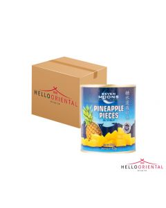 SEVEN MOONS PINEAPPLE PIECES IN SYRUP 850G (CASE OF 24)