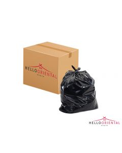 STRONGHOLD BLACK REFUSE SACK MEDIUM 18X29X34 INCHES (CASE OF 200)